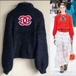 CHANEL CC Teddy Jacket  Sz 36